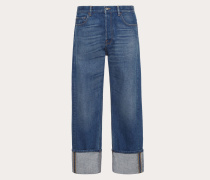 Valentino Uomo Jeans Im Baggy FitBaumwolle %