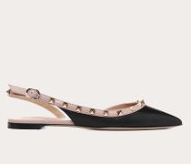 Valentino Garavani Slingback-ballerinas Rockstud aus Kalbsleder