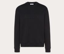 Valentino Uomo Rundhalssweatshirt mit Vltn Prägung L