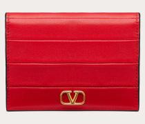 Valentino Garavani Kleines Portemonnaie Diary Lines aus Kalbsleder