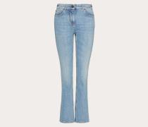 Bestickte Jeans aus Denim