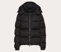 Valentino Wattierte Jacke aus Nylon und Heavy Lace