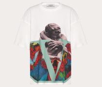 Valentino T-shirt aus Baumwolljersey mit Undercover Print XS