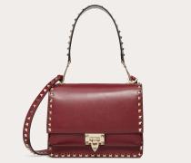 Valentino Garavani Crossbody Bag Rockstud aus glänzendem Kalbsleder