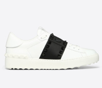 Sneakers Rockstud Untitled aus Kalbsleder mit Farblich Abgestimmten Nieten