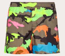 Valentino Uomo Badeshorts mit Camouflage-print