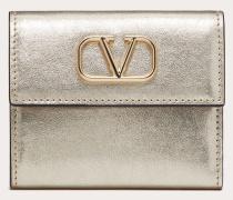 Valentino Garavani Kleines Portemonnaie Vsling aus Metallic-kalbsleder