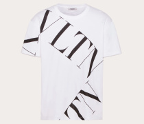 Valentino Uomo T-shirt mit Vltn Macrogrid-print XL