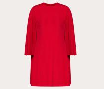 Valentino Plisseekleid aus Doubleface-viskose