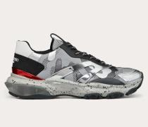 Valentino Garavani Uomo Sneakers Bounce aus Stoff und Laminiertem Nappaleder in Camouflage-Optik