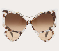 Oversize-butterfly-Sonnenbrille aus Acetat