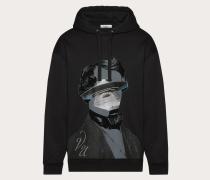 Valentino Uomo Sweatshirt mit V Face Ufo Print M