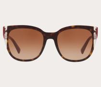 Valentino Occhiali Eckige Sonnenbrille aus Acetat