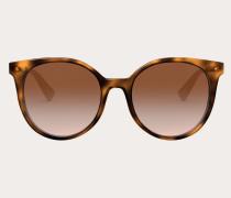 Runde Sonnenbrille aus Acetat mit Nieten