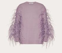 Bestickter Pullover aus Wolle und Kaschmir XS