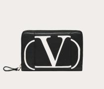 Valentino Garavani Portemonnaie Inlaid Vlogo mit Reißverschluss