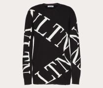 Valentino Pullover aus Kaschmirwolle mit Vltn Grid-intarsie XS