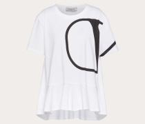 Valentino Bedrucktes T-shirt Vlogo XS