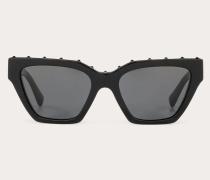 VALENTINO Rechteckige Sonnenbrille aus Acetat