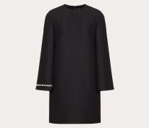 Valentino Kleid aus Crêpe Couture mit Gedicht-stickerei