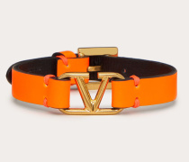Valentino Garavani Armband Vlogo aus Leder
