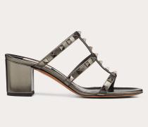 Valentino Garavani Slider-sandalen Rockstud aus Metallic-kalbsleder mitMm-absatz