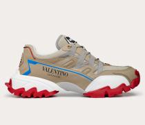 Climbers Sneakers aus Stoff und Leder