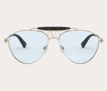 VALENTINO Piloten-Sonnenbrille aus Metall mit Vlogo