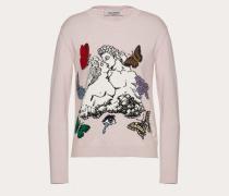 Valentino Pullover aus Kaschmirwolle mit Undercover Intarsie S