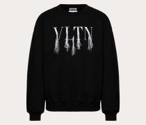 Valentino Uomo Sweatshirt Vltn mit Fransendetail, Designt in Zusammenarbeit mit Doublet M