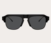 VALENTINO Rechteckige Sonnenbrille aus Acetat mit Vlogo Signature