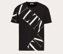 Valentino Uomo T-shirt mit Vltn Macrogrid-print XS