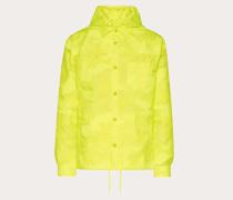 Valentino Uomo Kapuzenjacke aus Nylon in Camouflage-Optik