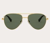 Piloten-Sonnenbrille aus Metall mit Nieten