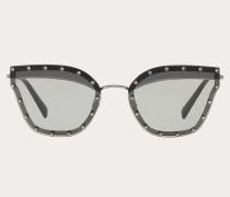 Valentino Garavani Uomo Cateye-Sonnenbrille aus Metall mit Kristallen