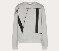 """Valentino Uomo Rundhalssweatshirt mit Grossem """"vltn""""-print M"""