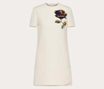 Valentino Kleid aus Crêpe Couture mit Undercover Patch und Stickerei