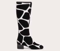 Stiefel City Safari aus Nappaleder mit Giraffen-stickmotiv und  Mm-absatz