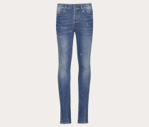 Valentino UomoPocket Destroyed Jeans, Skinny Fit