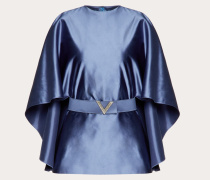Top aus Seiden-duchesse mit V-pavé-gürtel