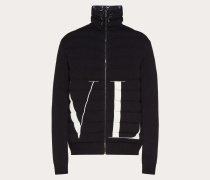 Valentino Uomo Viskosepullover mit Wattierung und Maxi-vltn-intarsie XS