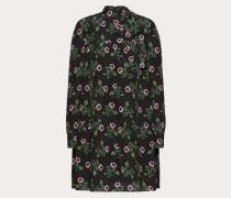 Valentino Kleid aus Crêpe De Chine mit Undercover Print