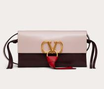 Valentino Garavani Crossbody Bag Vring aus glänzendem Kalbsleder und Mehrfarbigem Büffelleder