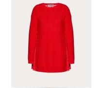 Valentino Pullover aus Wolle und Heavy Lace in Plissee-Optik XS
