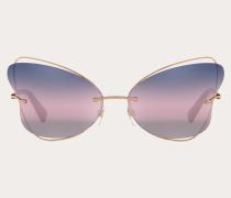Valentino Occhiali Randlose Butterfly-Sonnenbrille aus Metall