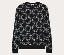 Valentino Uomo Rundhalssweatshirt mit Vltn Grid-print S