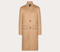 Valentino Uomo Gefütterter Mantelwolle 9%, Wolle 3%