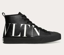 Valentino Garavani Uomo Hightop Sneakers aus Canvas mit Vltn-print