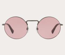 Valentino Occhiali Runde Sonnenbrille aus Metall