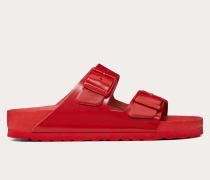 Valentino Garavani Uomo Slider-sandalen aus Leder, in Einer Zusammenarbeit mit Birkenstock Entworfen